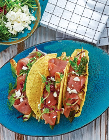 Tacos mit Spargel und Katenschinken